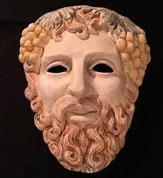 greek masks ergani athens hand made ancient greek athenian theatrical drama mask of dionysus ebay