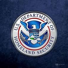 quot department of homeland security dhs emblem 3d blue velvet quot by captain7 redbubble