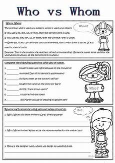 grammar worksheets who or whom 25034 12 best grammar images on language school stuff and teaching ideas