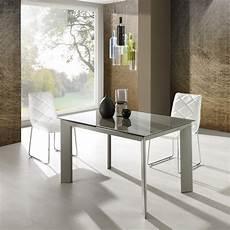 tavolo di vetro per soggiorno tavolo da soggiorno allungabile in metallo tortora con