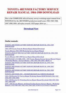 service repair manual free download 1992 toyota 4runner interior lighting toyota 4runner factory service repair manual 1984 1989 by gipusi samu issuu