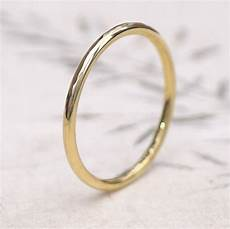 slim hammered wedding ring in 18ct gold by lilia nash jewellery notonthehighstreet com