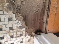 want to retile my bathroom but found masonry filling