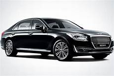 new genesis g90 executive sedan breaks cover debuts v6 turbo carscoops