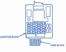 Geo 1600 1993 Junction Fuse Box Block Circuit