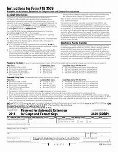 3539 corp form payment for automatic extension for corps and exempt orgs