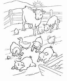 pig at farm coloring page coloring sky