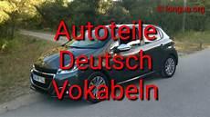 Lernen Learn German Auto Autoteile Longua Org