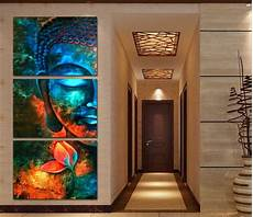 paintings for home decor framed 3pcs abstract blue buddha modern home decor canvas