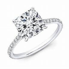 Gallery Cushion Cut Engagement Rings