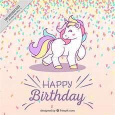 Malvorlagen Gratis Einhorn Happy Birthday Geburtstag Hintergrund Mit Einhorn Der