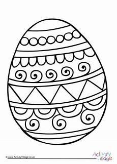 Malvorlagen Ostern Eier Easter Egg Colouring Page 1