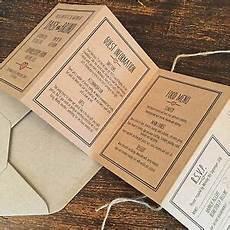handmade folded wedding invitations rose pink brown card vintage rustic style ebay