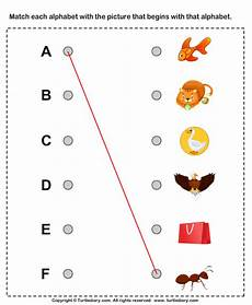 matching worksheets 15552 alphabet worksheet match the letters to the objects earlyeducation languagear phonics