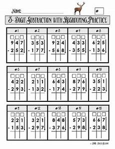 worksheets in subtraction with regrouping 10124 3 digit subtraction with regrouping practice worksheet tpt