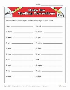 correcting spelling mistakes worksheets 22482 make the spelling corrections correcting proofing and editing