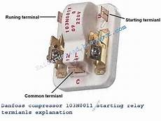 danfoos compressor 103n0011 starting relay terminals explanation 171 electrical and electronic