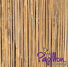 4m rolle 2m hoch bambus sichtschutz aus leisten