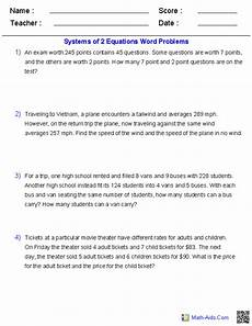 algebra 2 worksheets systems of equations and inequalities worksheets