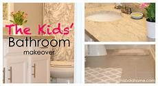 kids bathroom makeover this bold home