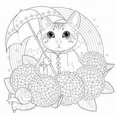 cat to print for free rainbow cat cats coloring pages