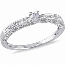 miabella 1 10 carat t w diamond sterling silver engagement ring walmart com