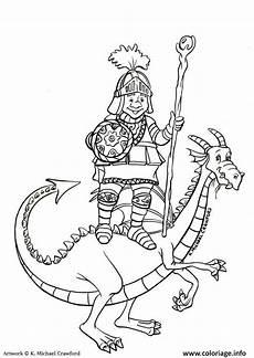 Malvorlagen Ritter Und Drachen Coloriage Chevalier Sur Un Dessin