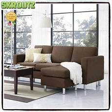 Brown Sectional Sofa Microfiber Chaise Lounge Living Room