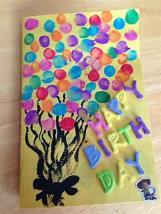 Geburtstag Karte Basteln - toddler fingerprints birthday card pins i ve done
