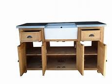 evier en bois massif grand meuble evier de cuisine dessus zinc