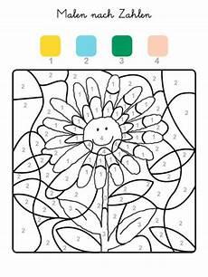Malvorlage Nach Zahlen Kostenlose Malvorlage Malen Nach Zahlen Sonnenblume