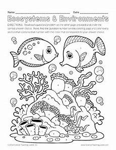 coloring pages ecosystem animals 16973 ecosystems and environments color by number by science teaching junkie inc