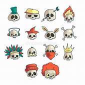 Cartoon Skull Collection Stock Vector Illustration Of