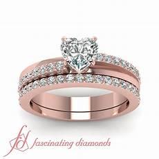 1 10 ct heart shaped diamond tranquil crossover wedding