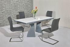 Esstisch Hochglanz Grau - grey high gloss white glass dining table 6 chairs