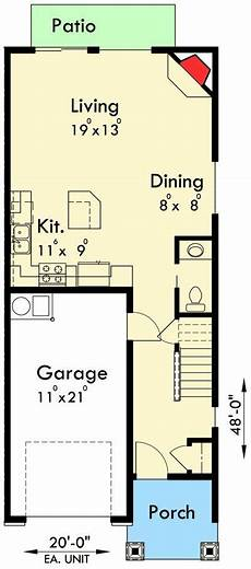 triplex house plans plan 38029lb 2 bed triplex house plan town house plans