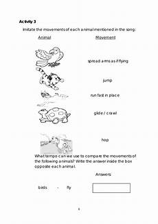 movements of animals worksheets for grade 1 14260 mapeh 3 learner s manual 4th quarter