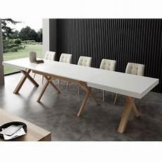 table extensible bois 15517 table extensible de salle 224 manger blanche en bois massif
