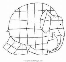 elmar elefant malvorlage malbild