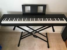 yamaha p 45b digital piano with stand pedal and midi