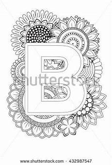 alphabet mandalas coloring pages 17864 doodle floral letters coloring book for mandala and sunflower abc book isolated vector