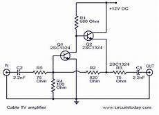 Cable Tv Lifier Electrical Projects Circuit Solar