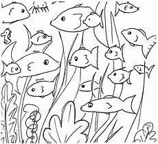 free printable fish doodles coloring page kostenloses
