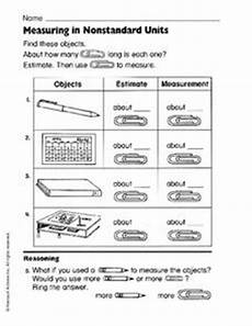 measurement worksheets grade 1 non standard 1453 measuring in nonstandard units worksheet for 1st 3rd grade lesson planet