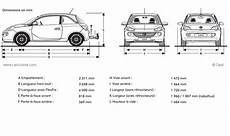 opel adam fiche technique dimensions
