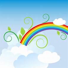 regenbogen im himmel vektor abbildung illustration