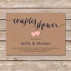 rustic couples shower invitation kraft couples wedding shower invite diy printable digital