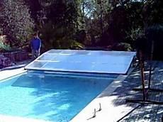 abri piscine plat telescopique repliable coulissant non
