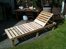 Sun Lounger Small Table From Discarded Pallets Outdoor