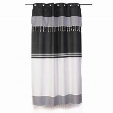 rideaux rayes gris et blanc rideau 233 noir et blanc style ethnique chic et ajustable
